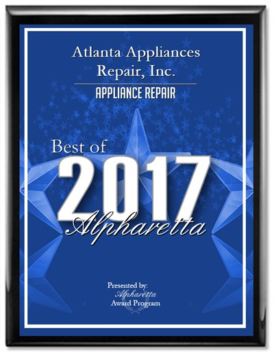 Atlanta Appliances Repair Award Best of Alpharetta